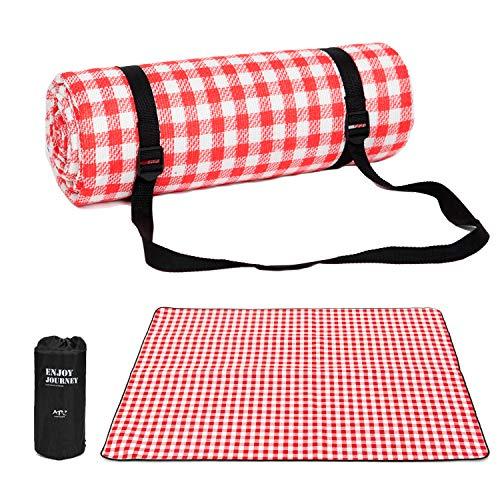 HOMUT Sadubty Outdoor Picknickdecke 200 x 200 cm,Gepolstert Picknick-Matte für Strände,Picknicks,Parks,Camping