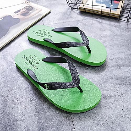 Yumanluo Hombre Verano Zapatillas Flip Flops Sandal Zapatos de Playa y Piscina,Zapatillas de Playa clásicas-Green_41