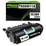 ToBeter T650H11A High Yield Compatible Toner Cartridge for Lexmark T650H11A T650 T652 T650DN T650N T652DN T652N T654DN Printer (2,5000 Pages)