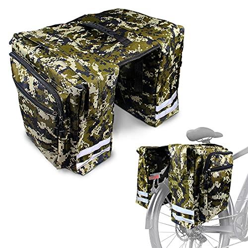 Gepäckträgertasche, Fahrradtaschen Gepäckträger, Gepäcktaschen Für Fahrrad Doppeltasche, Multifunction&wasserdichte Fahrradtasche mit Reflektierende Streifen.
