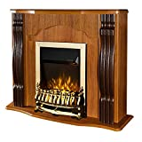 Art Flame - Chimenea eléctrica Classic & Galileo Gold marrón, potencia 2000 W, mando a distancia
