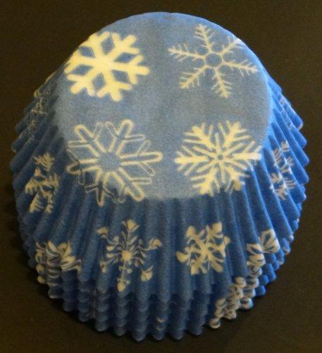 Snowflake Cupcake Liners Baking Cups Standard Size FROZEN PARTY Baking Cups 50 count by baking cups