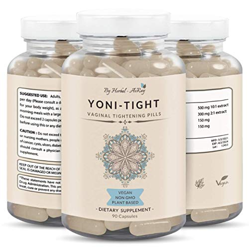 Yoni Tight – Natural Vaginal Tightening Pills – Vagy Rejuvenation for Tighten, Healthy, Lubricated Vagina – Vaginial Tightening Products with Kacip Fatimah Extract –90 Capsules Vag Tightener for Women