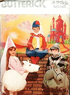 Butterick 4285, Child's Humpty Dumpty, Princess and Knight with Horse Costume Pattern, size S-L (4 to 10)