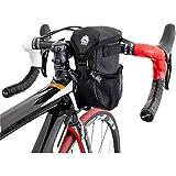 GORIX ゴリックス 自転車用 ハンドルバッグ ステム フロント [ロードバイク・クロスバイク・マウンテンバイク] 小物入れ ポーチ (B16) (ブラック)