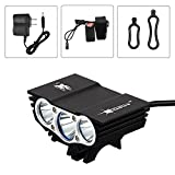 Best Bicycle Lights 5000 Lumens Rechargeables - hkbayi New SolarStorm X3 3 Modes 5000Lumen 3xCree Review