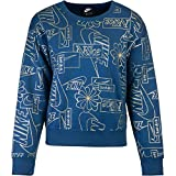 Nike Icon Clash Women Sweater Sweatshirt (S, Blue)