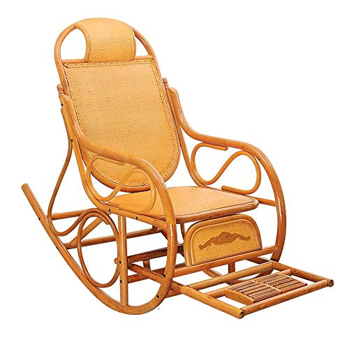 YLCJ Rotan stoel Rocking chair Lunch break Ligstoel Houten chaise longue Multifunctioneel bed (kleur: A) A