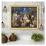 El Nacimiento de los Patrones de Jesús del bebé, Kits de Punto de Cruz de Lona, Conjunto de Costura de Bordado, decoración del hogar Enviar Herramientas de Accesorios Punto De Cruz