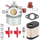 Hilom 640350 Carburetor Air Filter Spark Plug Fuel Line Primer Blub for Tecumseh Toro Recycler 640271 640303 LV195EA LEV100 LEV105 LEV120 20016 20017 20018 6.75 HP Toro Lawnmowers