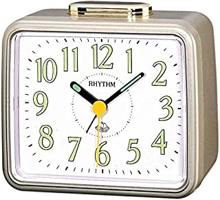 Rhythm Japanese Alarm And Table Clock 4Ra457Wr18 - Gold And White