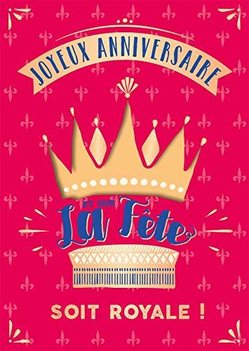 ART GRAFiK carte musicale | effet son & lumières | carte d'anniversaire | Carte de vœux | carte double | carte de félicitations (« Et que la fête soit royale ! » (musique : reprise de Happy))