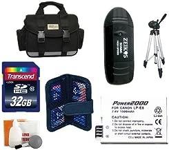 Loaded Value Tripod & LP-E8 Battery 32 GB Kit for Canon Rebel T4i, T3i and T2i Digital Camera