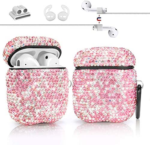 Newseego Compatible with AirPods 1 2 Case Keychain Anti Lost Strap Ear Hooks Watch Band Holder product image