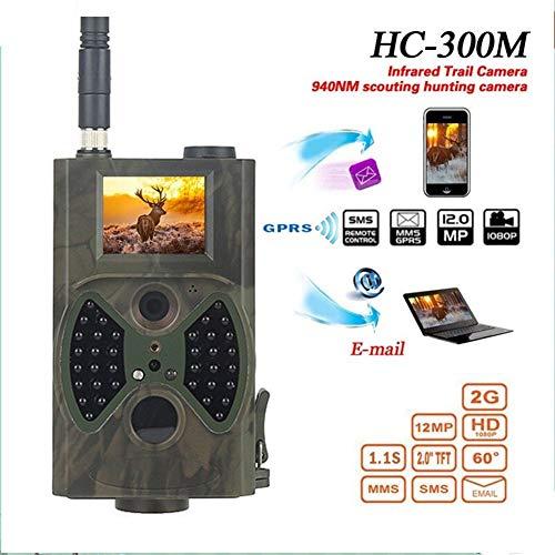 KUANGQIANWEI Wildkamera HC300M Jagd-Kamera GSM 12MP 1080P Foto Trap Nachtsicht Rohmaterial Tier Infrarot Jagd-Hinterkamera-Jagd