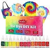 DIY Tie Dye Kits, 26 Colors Fabric Shirt Dye Kit for Kids Adults and Groups, Non-Toxic Tie Dye Set...