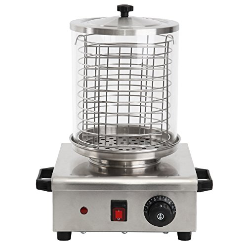 iglobalbuy 850 W Eléctrico comerciales Acero Inoxidable Hot Dog...