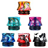 6 Pieces Resin 810 Drip Tip Replacement Resin Drip Tip Connector Standard Resin Drip Tip Cover Fitting Resin Connector for Ice Maker Coffee Mod Machine Favors (Waist Style)