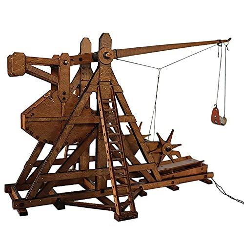 👍 Imparato come le armi d'assedio medievali usavano il principio della leva di gravità per causare danni alle forze nemiche, non è solo per l'aspetto, ma può anche essere sparato! 👍Il prodotto assemblato è lungo 24 cm, largo 20 cm e alto 22 cm, il ch...