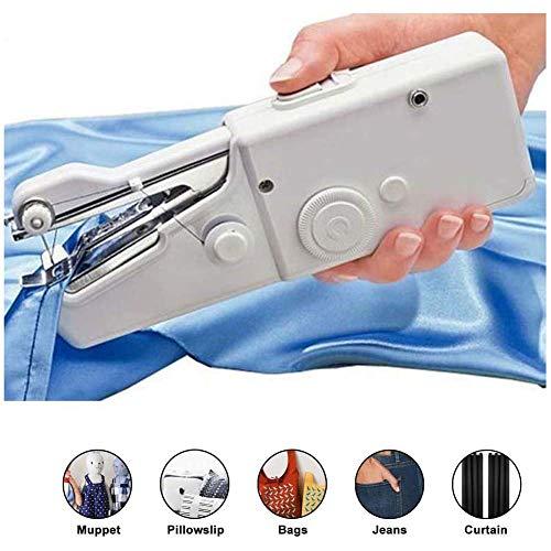 Elitte Handnähmaschine Portable Mini Nähmaschine Schneller Handlicher Geeignet für DIY Haushalt Kleidung Stoff Vorhang und Reisenutzung