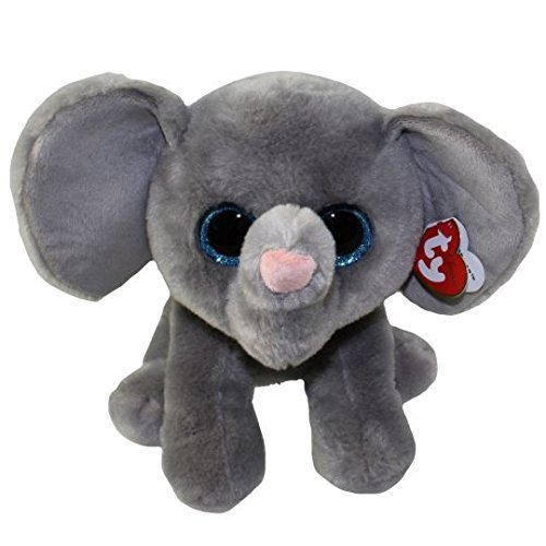 """Ty Classic Beanies TY Classic Plush -TY Classic Plush - WHOPPER the Grey Elephant (13 inch from tail) 25cm Medium Buddy Size 9"""" …"""