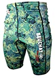 Beuchat Mundial Neoprene Camo Green Shorts 1mm (X-Large) for Spearfishing and...