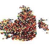 Starbun Bola de gel-10 Colores 3000PC Bolas de Gel Planta de Agua Flor de Suelo de Cristal Perlas de Agua de Barro Decoraciones de Boda(Multicolor)