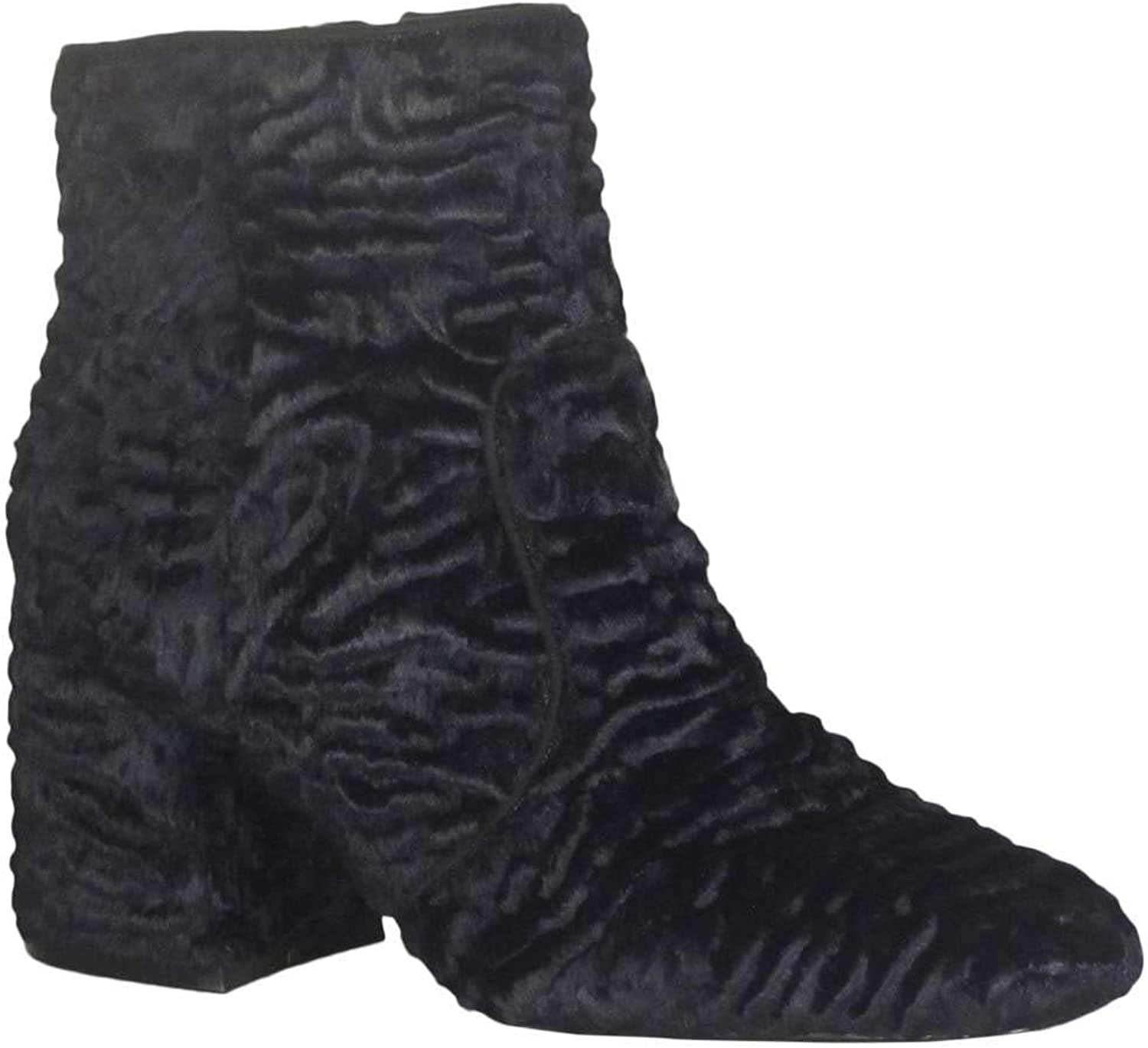 Nine West Women's Announcer Synthetic Ankle Boot, Red Synthetic