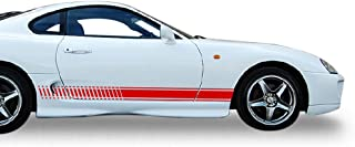 Bubbles Designs Set of Racing Side Stripes Decal Sticker Graphic Compatible with Toyota Celica GT-S 2001 2002 2003 2004 2005 2006