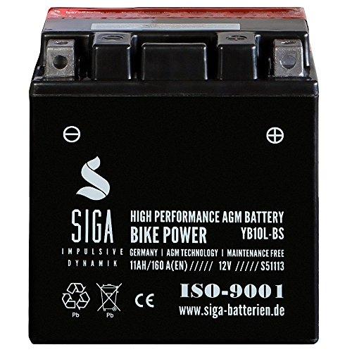 Motorrad Batterie YB10L-B AGM Gel 11Ah 12V 160A/EN Motorradbatterie 12N10-3B CB10L-B YB10L-B2