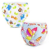 Phogary Schwimmwindeln (2er-Pack), wiederverwendbare Baby-Schwimmwindel für Babys von 0 bis 3...