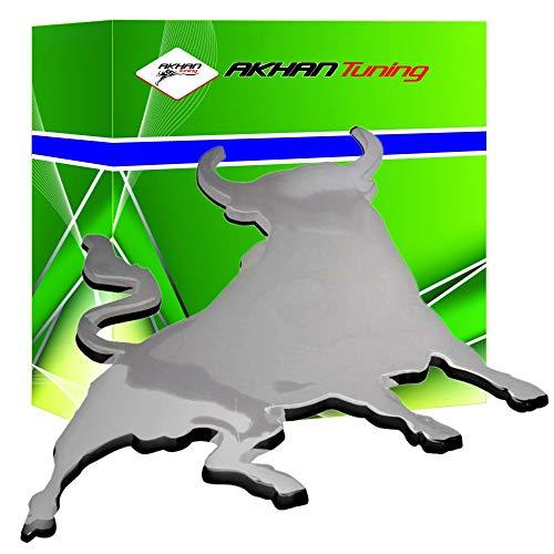 3D07207 - Emblema cromado 3D etiqueta insignia logotipo decorativo coche (3M autoadhesivo) Toro Bull