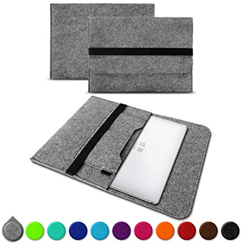 UC-Express Sleeve Hülle Trekstor Primebook C13 Tasche Filz Notebook Cover 13,3 Laptop Case, Farbe:Hell Grau (Grey)