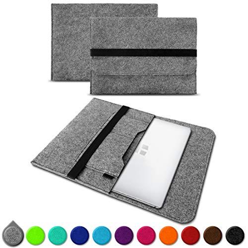UC-Express Sleeve Hülle Odys Trendbook 14 Pro Tasche Filz Notebook Cover 14' Laptop Schutz Case, Farbe:Hell Grau (Grey)
