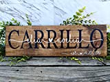 Personalized Last Name Signs For Home. Custom Wedding Gifts For The Bride And Groom.