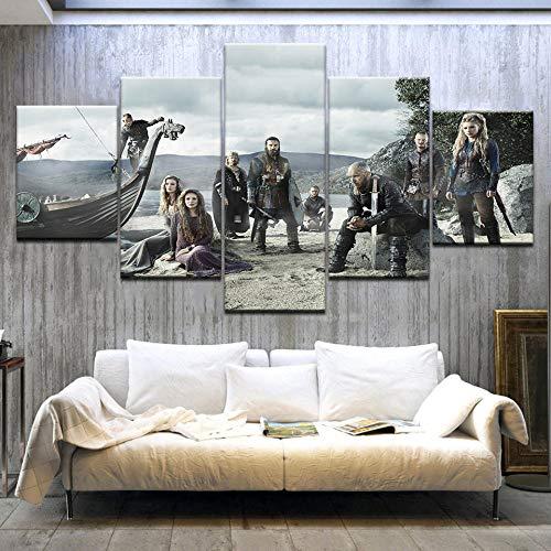 183Tdfc Cartel De La Película Americana 5 Piezas Cuadros Lienzo Decoracion Salon Modernos De Pared Lienzos Colgando Papel Pintado Murales Pintura Póster Fotos Regalo