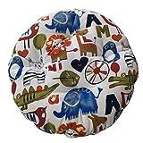 Levoberg - Funda de taburete redondo de algodón y algodón para asiento grueso, cojín de silla acolchado, 45 cm #1