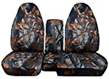 Totally Covers Compatible with 1998-2003 Ford Ranger/Mazda B-Series Camo Truck Seat Covers (60/40 Split Bench) w Center Console/Armrest Cover: Gray Tree Camouflage w/wo Cup Holders