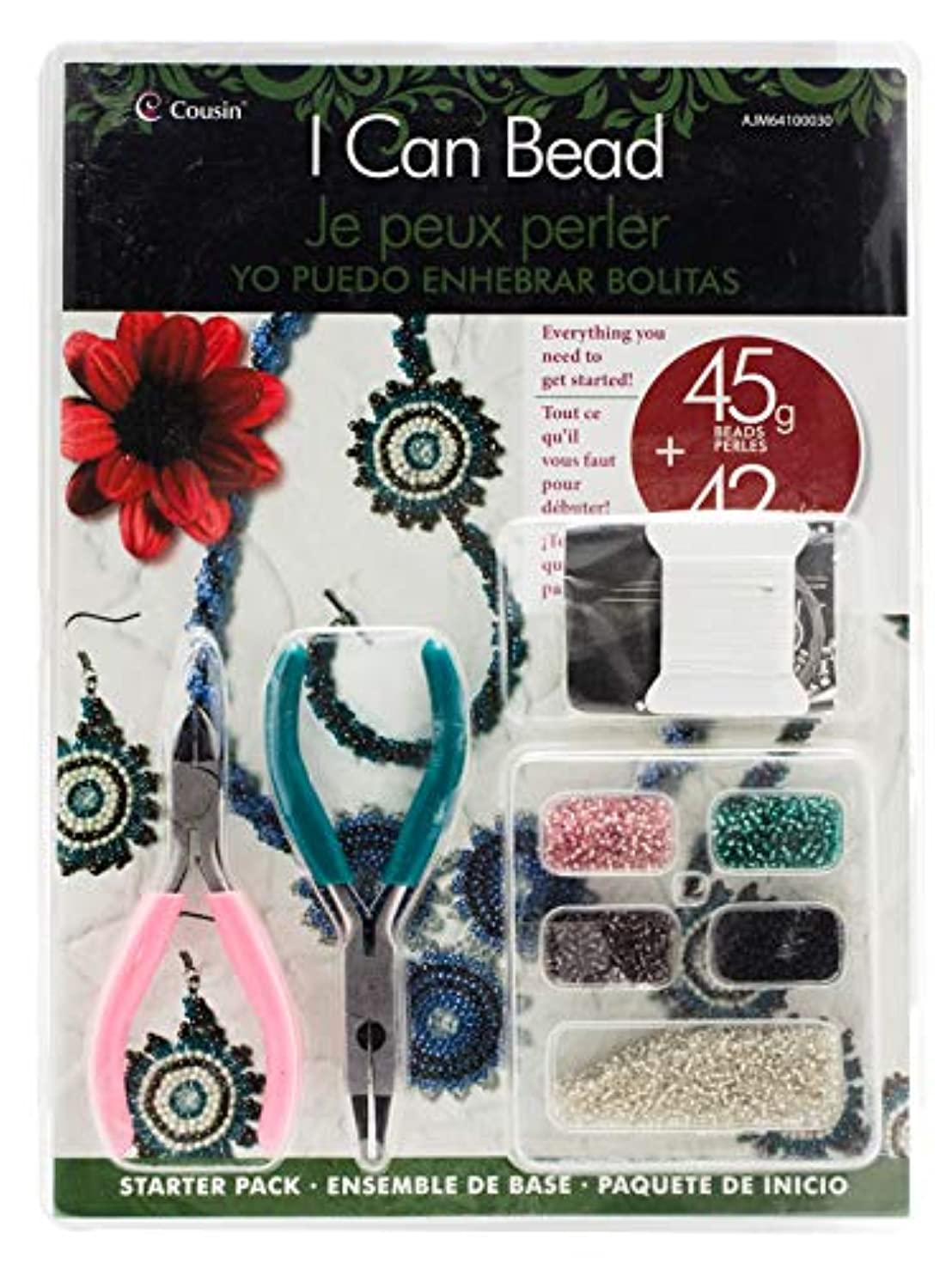 Cousin DIY 64100030 I I Can Bead Jewelry Making Starter Kit, Multicolor