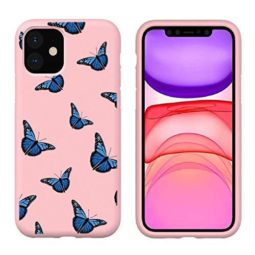 Pnakqil Funda para Xiaomi Mi Redmi Note 9 4G Silicona con Dibujos Carcasa Ultrafina y Ligero Diseño Gel TPU Suave Piel Case Antigolpes Bumper Protectora Back Cover, Mariposa