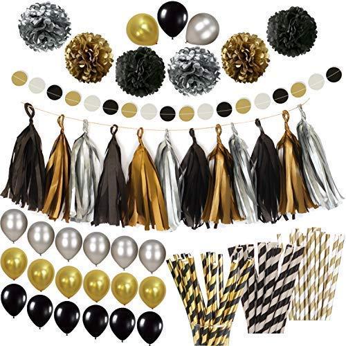 Black And Gold Party Decor Amazoncom
