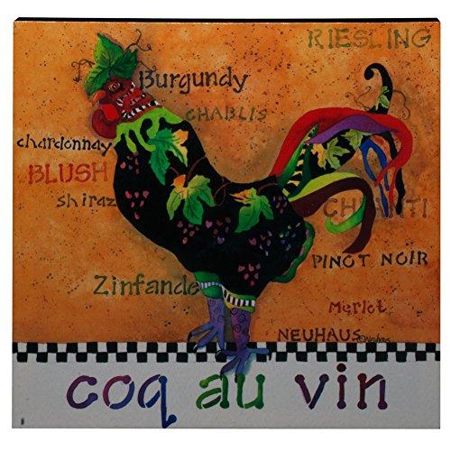 Poultry In Motion Coq au Vin Canvas Wall Art