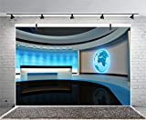 Yeele 7x5ft News Backdrop for Photography TV Studio Interior Broadcast Screen Camcorder Newsman Interview Photo Background Kids Adult Artistic Portrait Photo Shoot Video Wallpaper