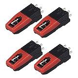 Urhomy レコードプレーヤー針 レコードプレーヤー用交換針 蓄音機アンティークピックアップビニール ターンテーブル用ニードル レコードプレーヤーユニバーサル ウェアラブルビニール レコードプレーヤーの針 蓄音機の交換針 4PCSセット 耐摩耗性 耐久性