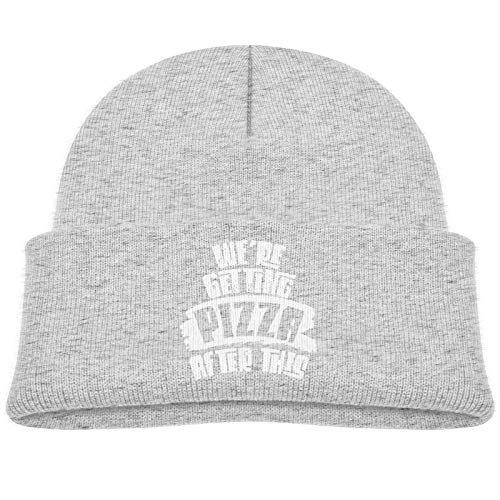 Sng9o Gorros unisex con texto en inglés 'We 're Getting Pizza After This Kids Hip Hop Breakdance Gorras de algodón suave para niños