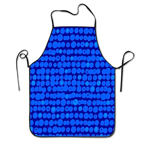 Crysss Apron for Cooking Baking Blueberry FunKitchen Apron for Cooking BBQ Party Grill and Baking Commercial Craft 20.5 x 28.3 Inch