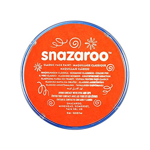 Snazaroo - Pintura facial y corporal, 18 ml, color naranja oscuro
