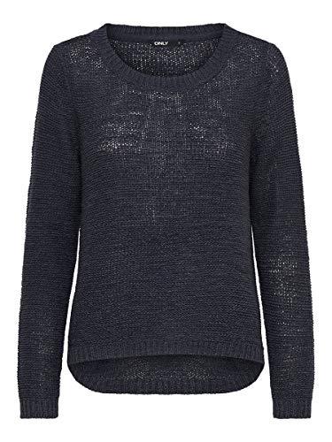 ONLY Damen Onlgeena Xo L/S KNT Noos Pullover,Blau (Navy Blazer),42 (Herstellergröße: XL)