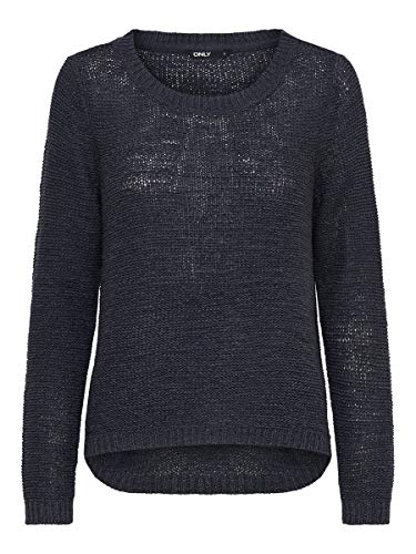 Only onlGEENA XO L/S PULLOVER KNT NOOS, Suéter para Mujer, Azul (Navy Blazer), L