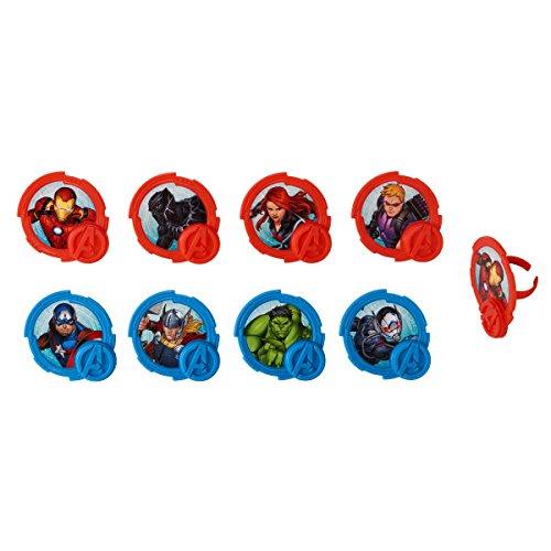 National Cake Supply Marvel Avengers Mightiest Hero Cupcake Rings - 24...